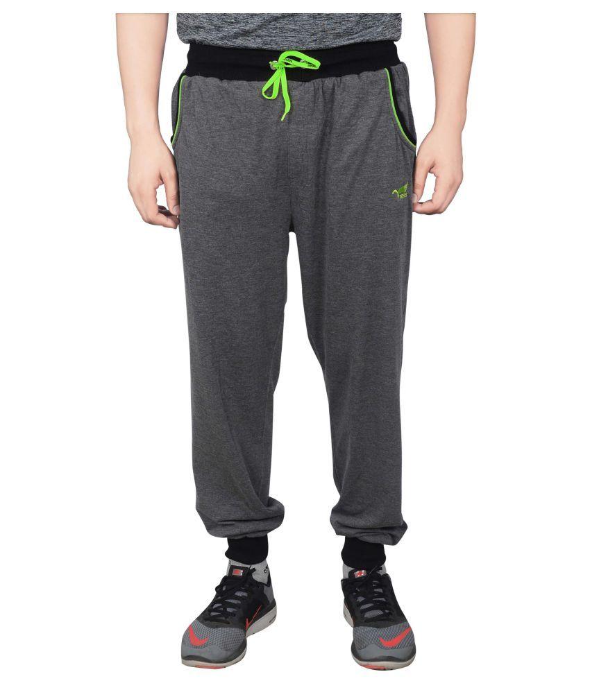 NNN Grey Cotton Track Pants for Men