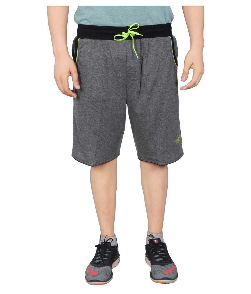 NNN Grey Polyester Shorts for Men