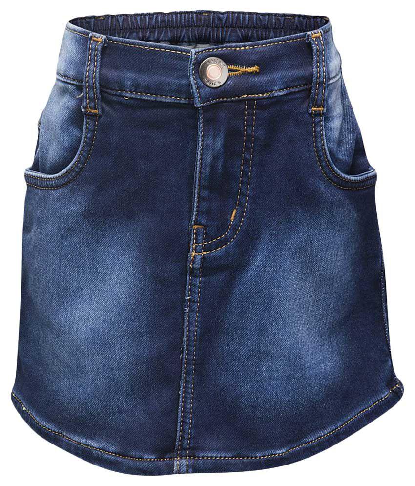 Western Basics Blue Cotton Shorts