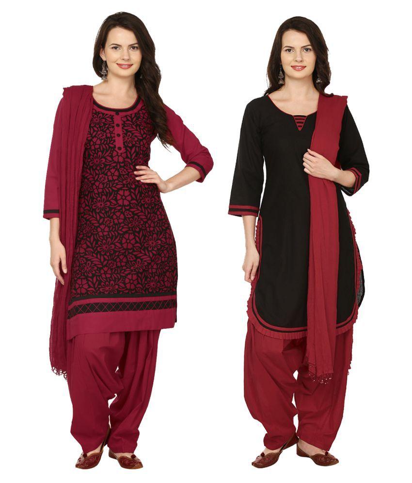 Saundarya Multicoloured Cotton A-line