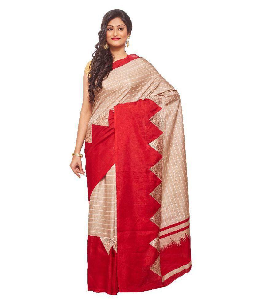 Avinandan Fashions Multicoloured Tussar Silk Saree