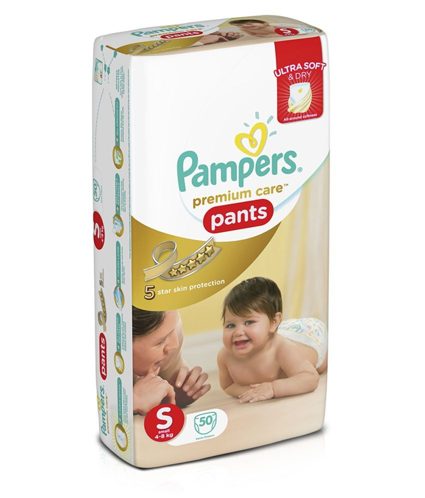 fb4154d39 Pampers Premium Care Pants Diapers Small Size 50 pc Pack  Buy ...