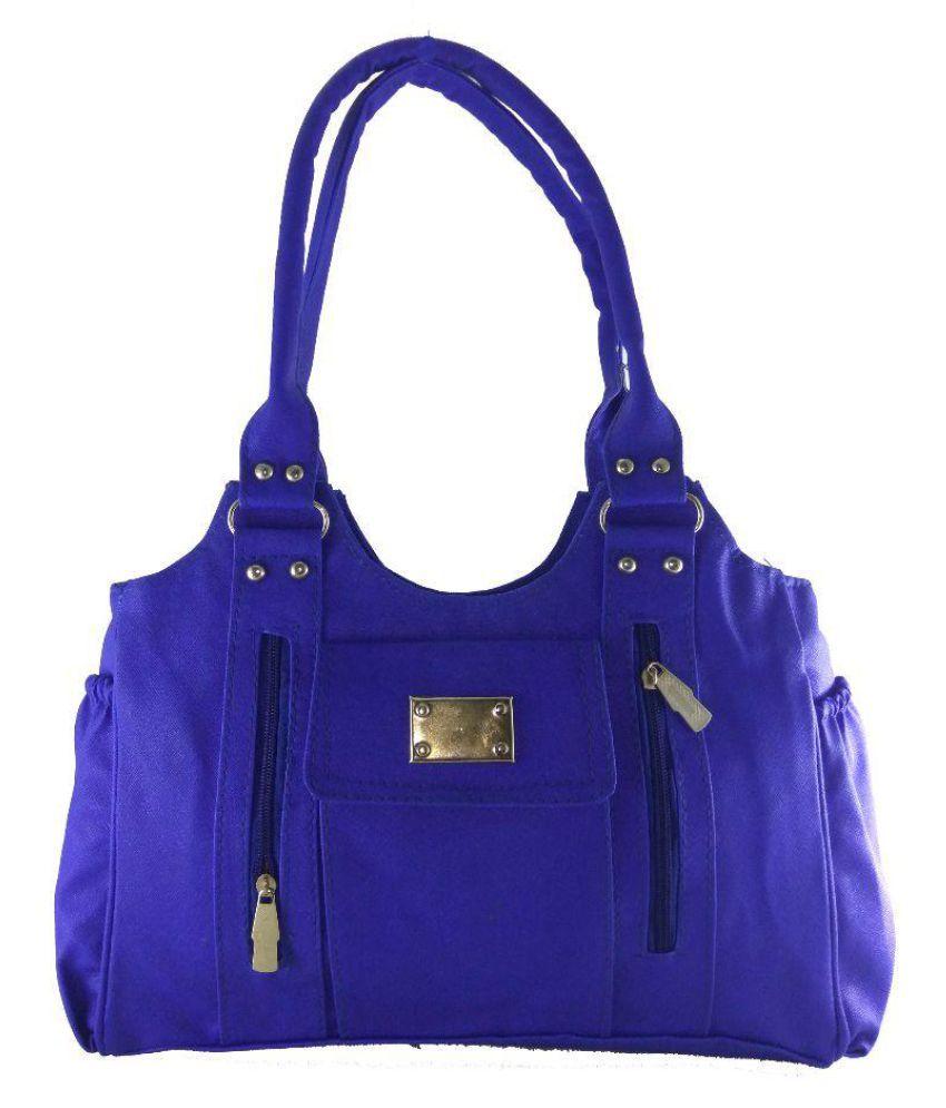Panashe Blue P.U. Shoulder Bag