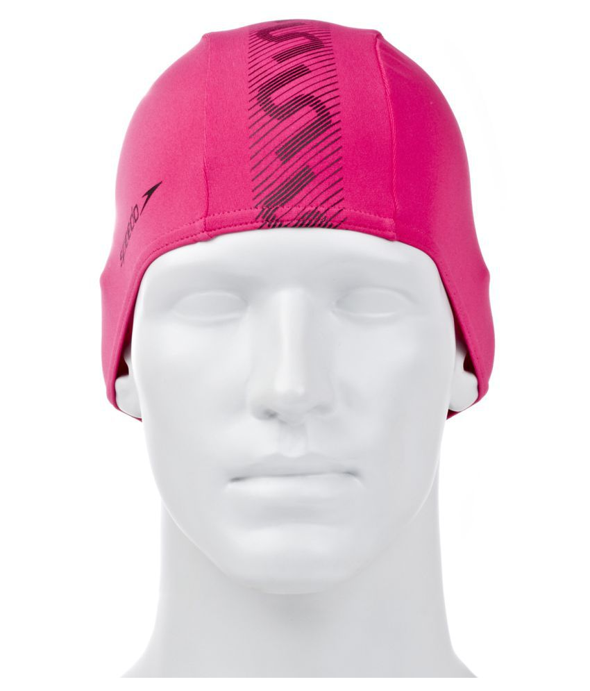 Speedo Adult Pink Silicone Swimming Cap L