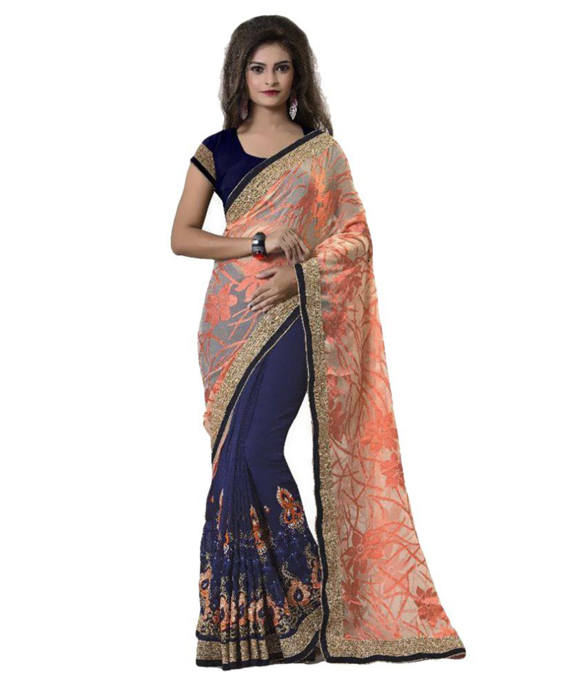 Aashvi Creation Multicoloured Brasso Saree