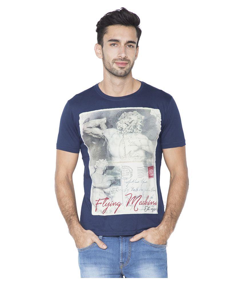 Flying Machine Navy Round T-Shirt