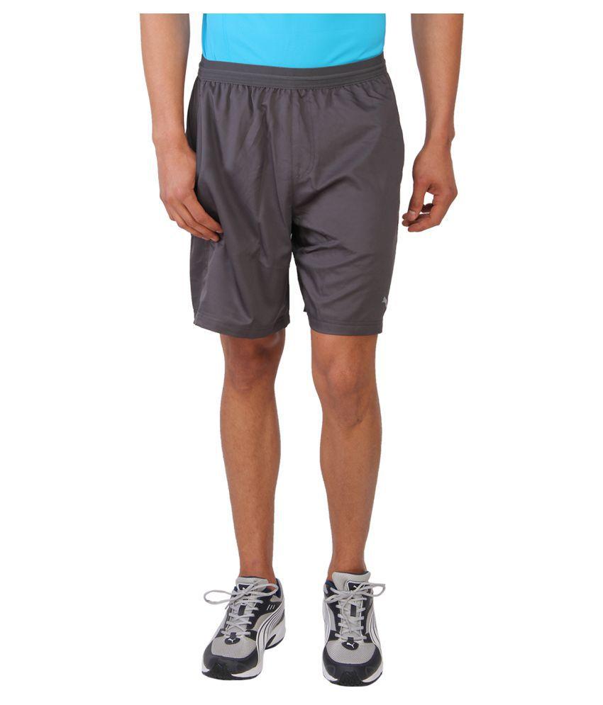 Puma Grey Polyester Shorts