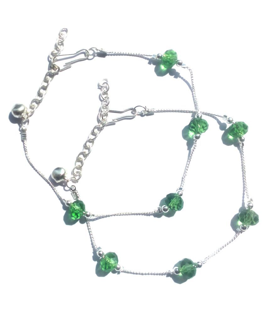 Uma Green Anklets - Set of 2