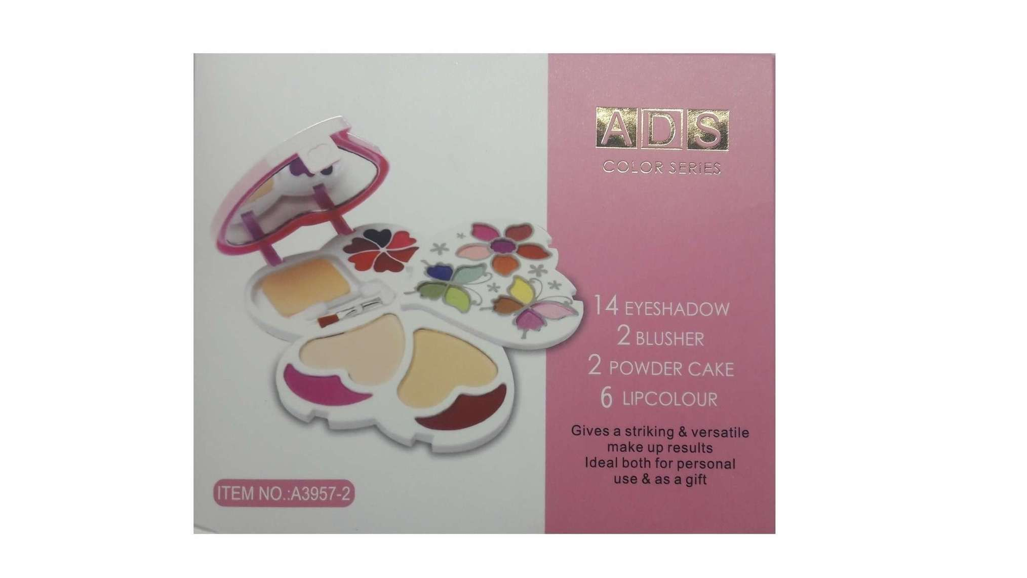Ads Makeup-kit With 14 Eye Shado 2 Blusher And 2 Compact Powder And 6 Lip Color