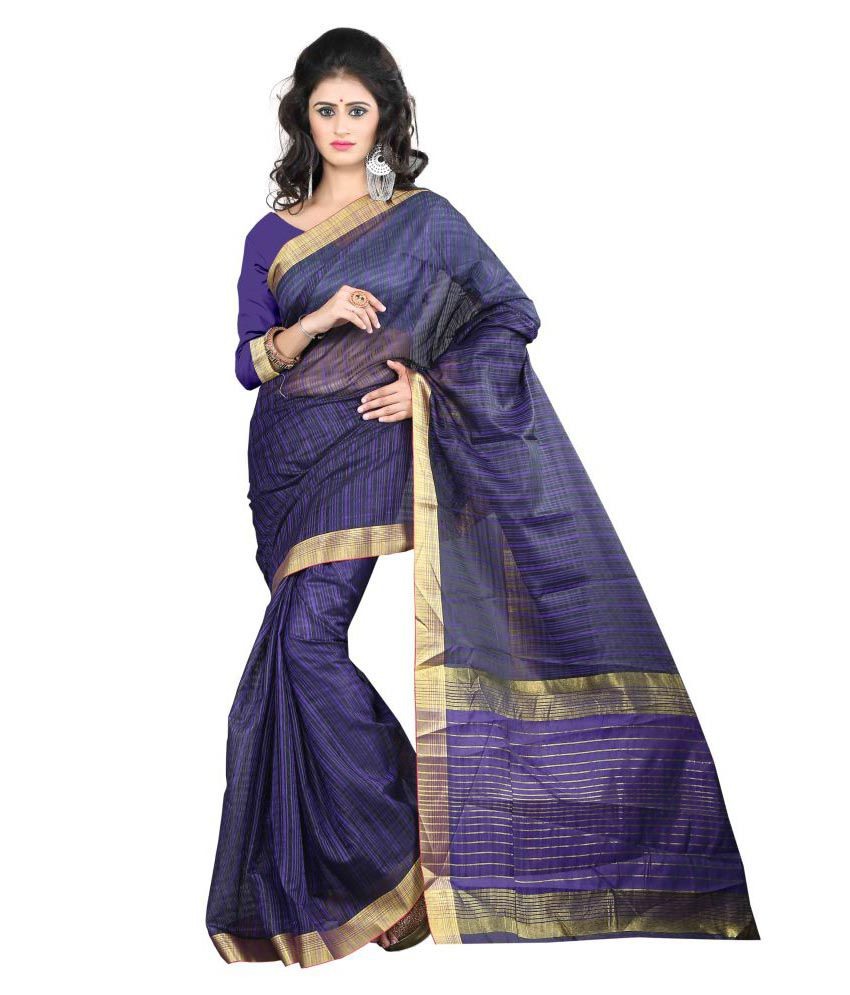 Jay Fashion Purple Art Silk Saree