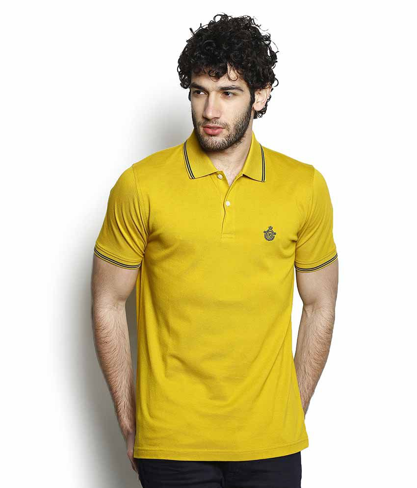 blackberrys yellow slim fit polo t shirt buy blackberrys. Black Bedroom Furniture Sets. Home Design Ideas