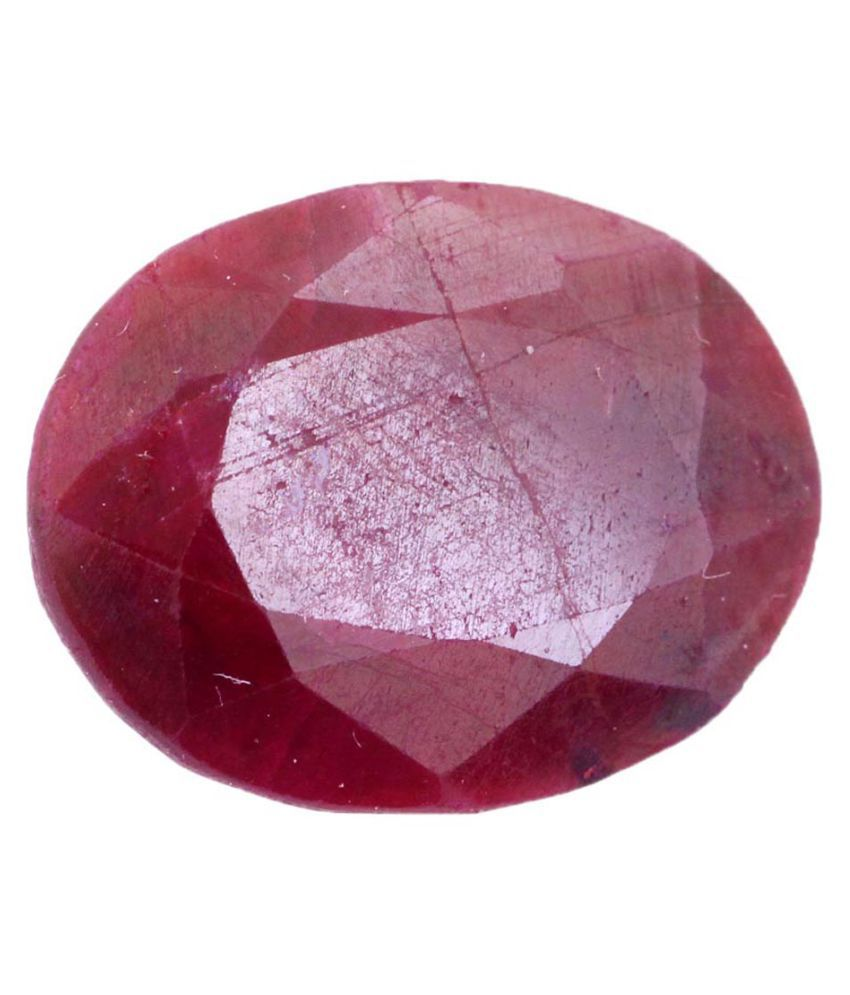 Nirvana Gems IGI Red Ruby Semi-precious Gemstone