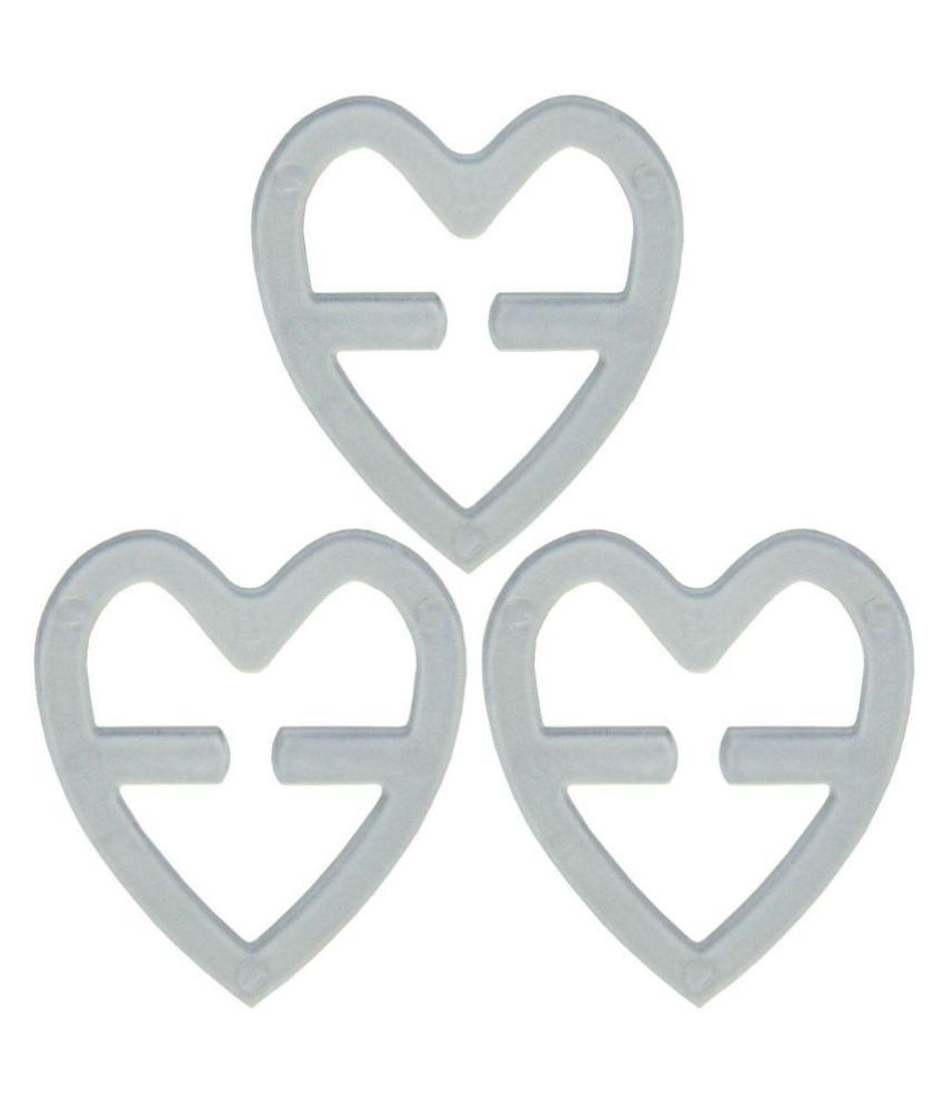 Buy Clear Heart Shape Bra Strap Clips Pack Of 3 Online At Best