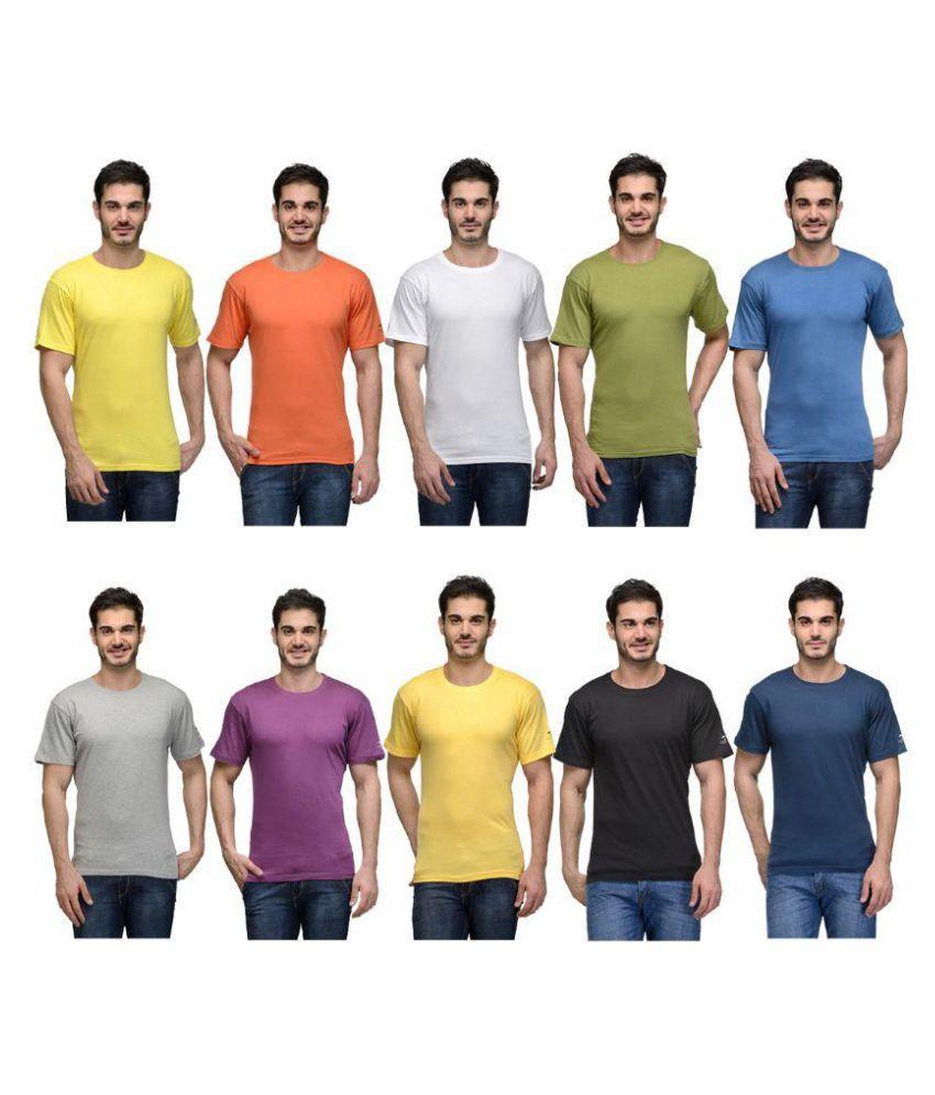 Urban Glory Multi Round T-Shirt Pack of 10