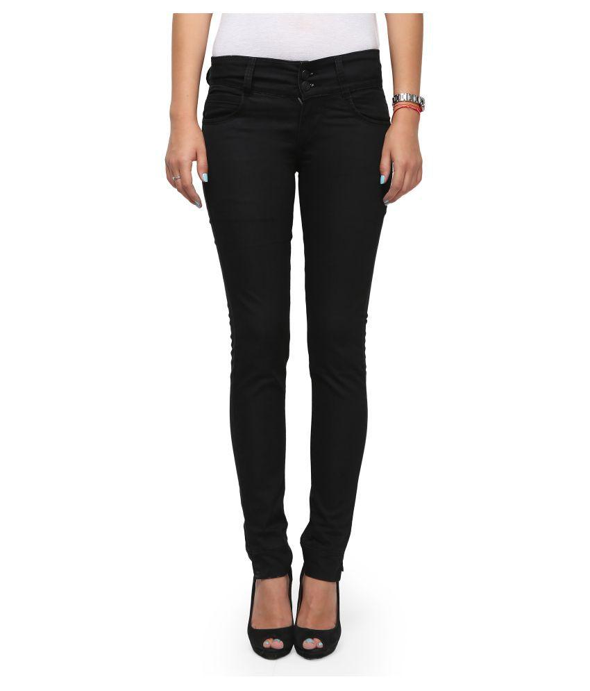 Siya Black Denim Lycra Jeans