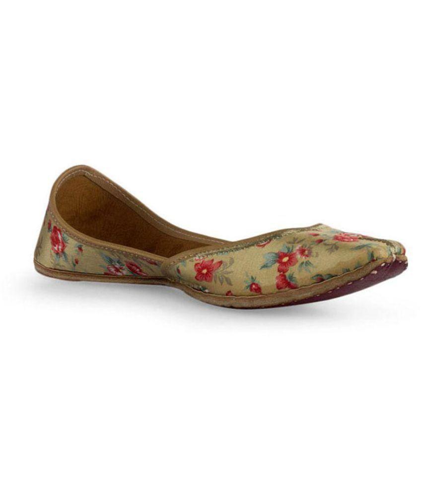 Cusp Multi Color Flat Ethnic Footwear