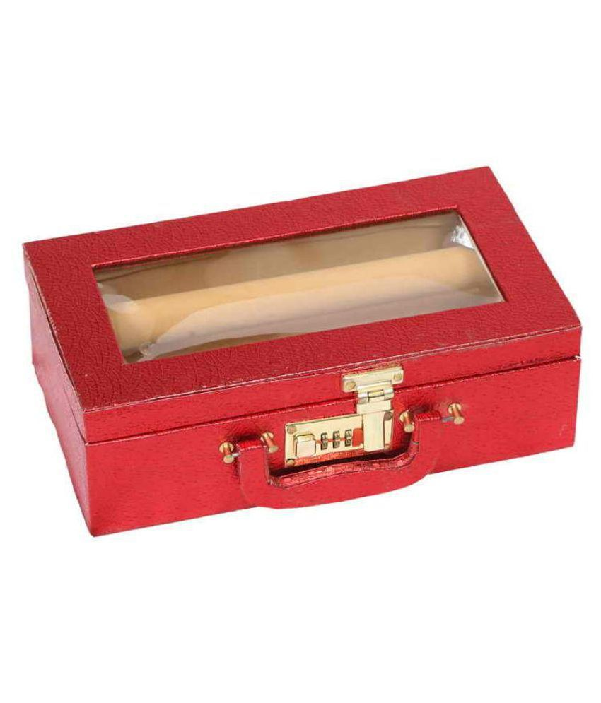 Kuber Industries Wooden Maroon Bangle Box​
