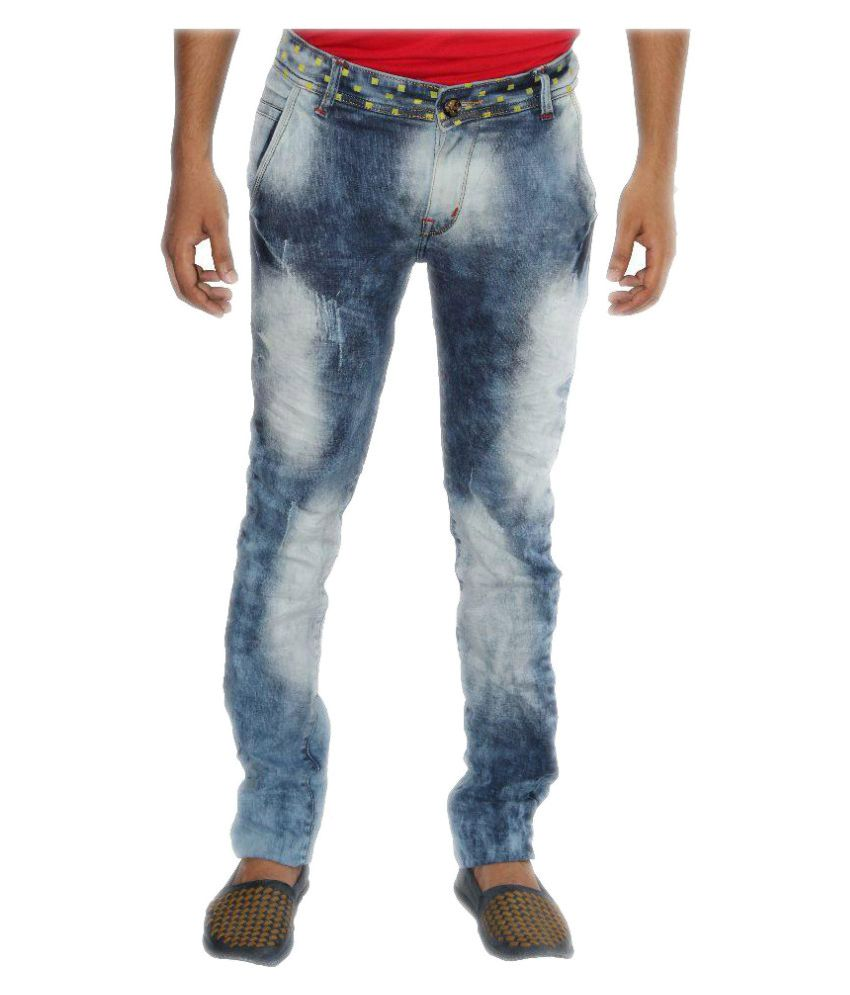 999 Rock Jeans Blue Slim Faded