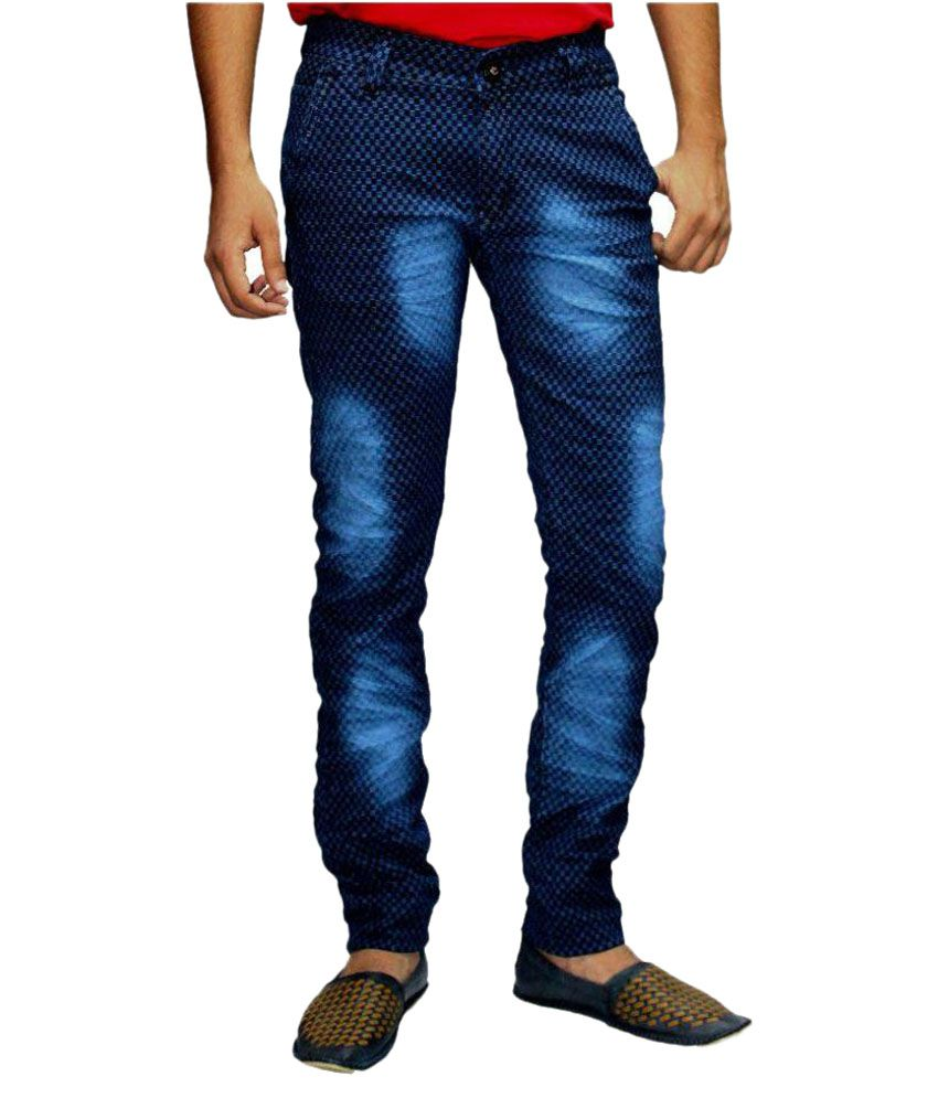 999 Rock Jeans Blue Slim Washed