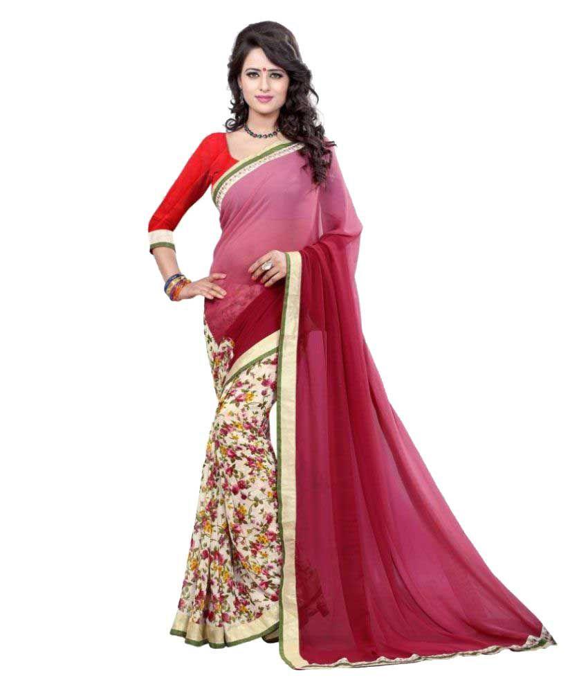 Glorious Fashion Multicoloured Georgette Saree