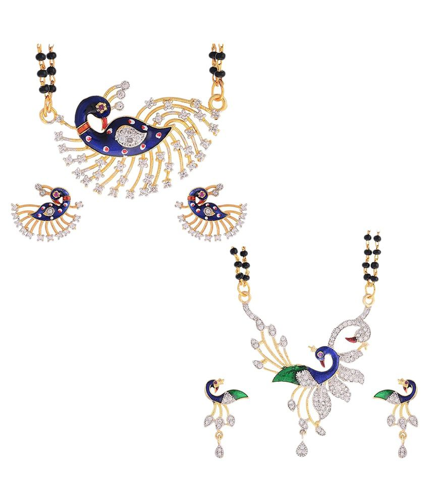 Awww Multicolour Mangalsutra Set - Set of 2
