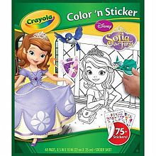 crayola apr 26 color n sticker book sofia the first - Crayola Color Online