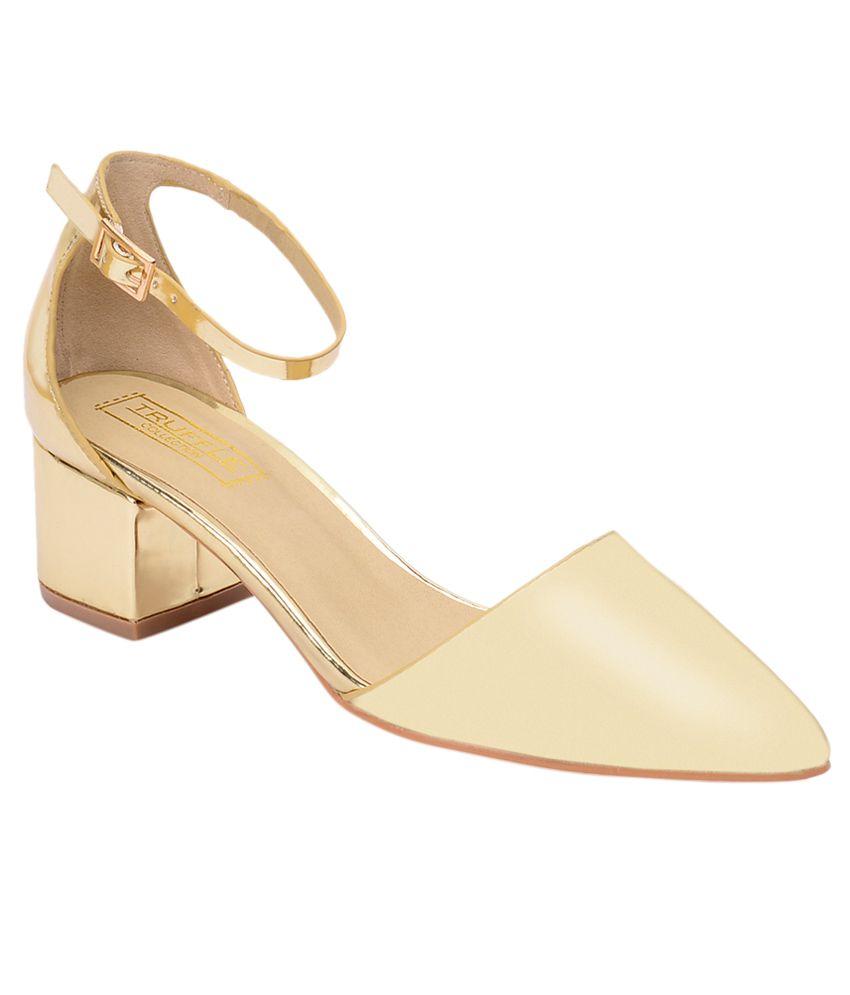 Truffle Collection Golden Block Heels