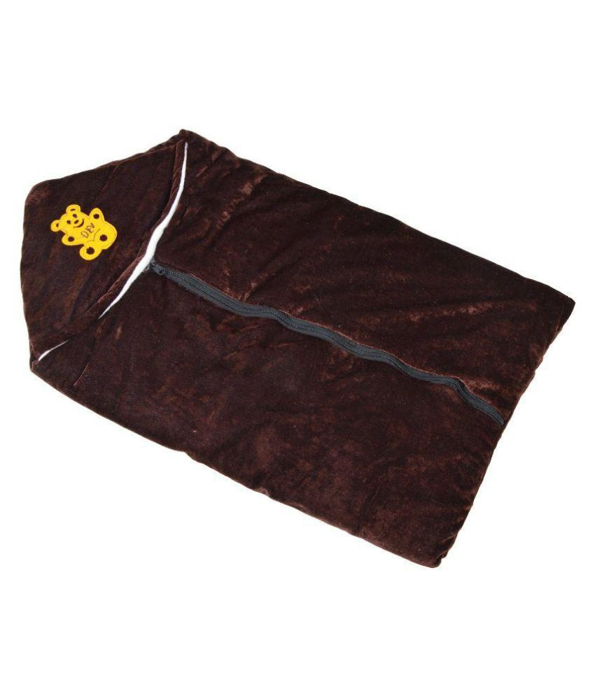 Chhote Janab Brown Fleece Baby Wrap
