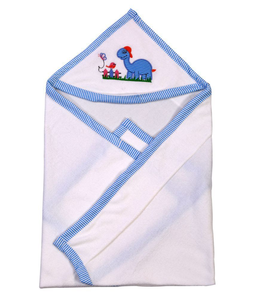Brim Hugs & Cuddles White Baby Wrapper Baby Blanket/Baby Swaddle/Baby Sleeping Bag