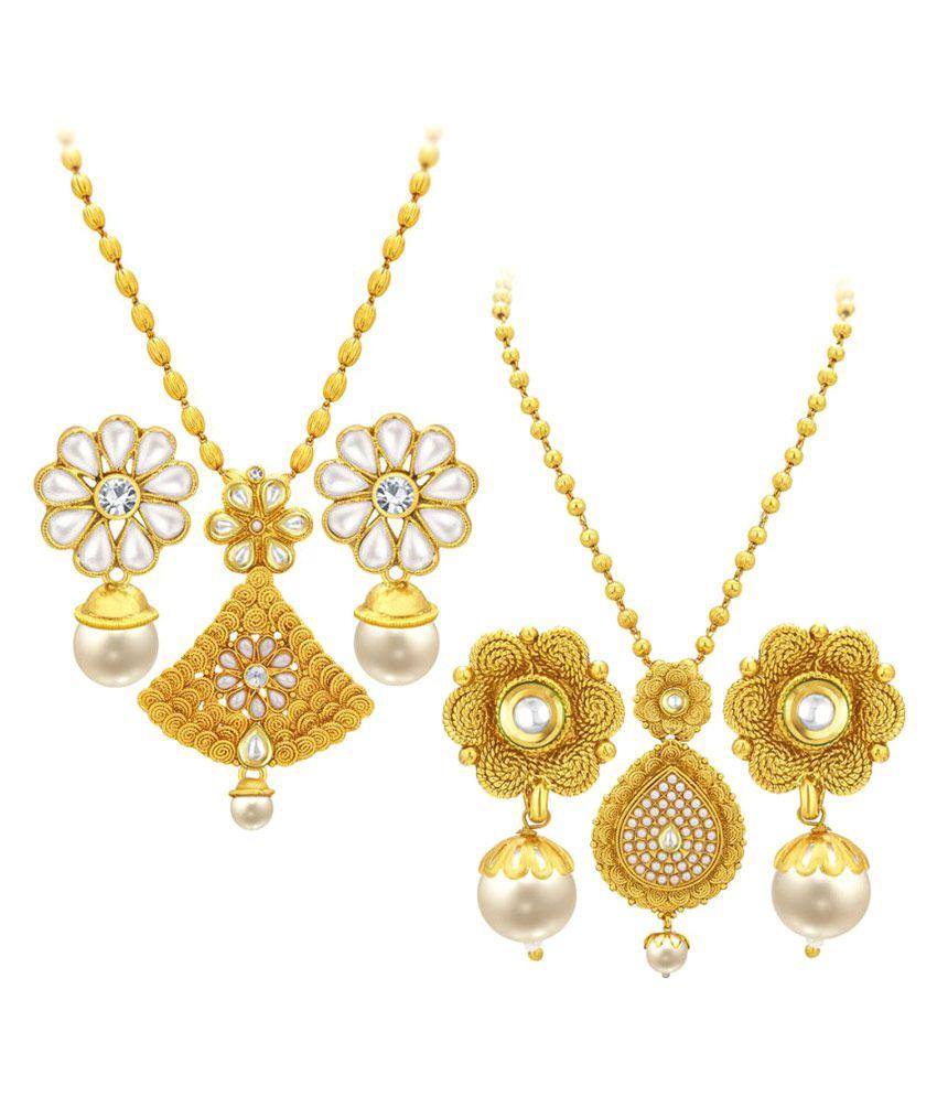 Sukkhi Multicolour Necklace Set - Set of 2