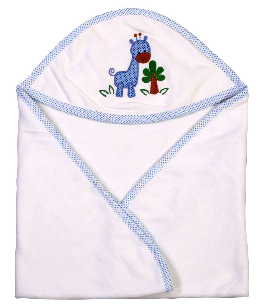 Brim Hugs & Cuddles White Cotton Baby Wrap Baby Blanket/Baby Swaddle/Baby Sleeping Bag