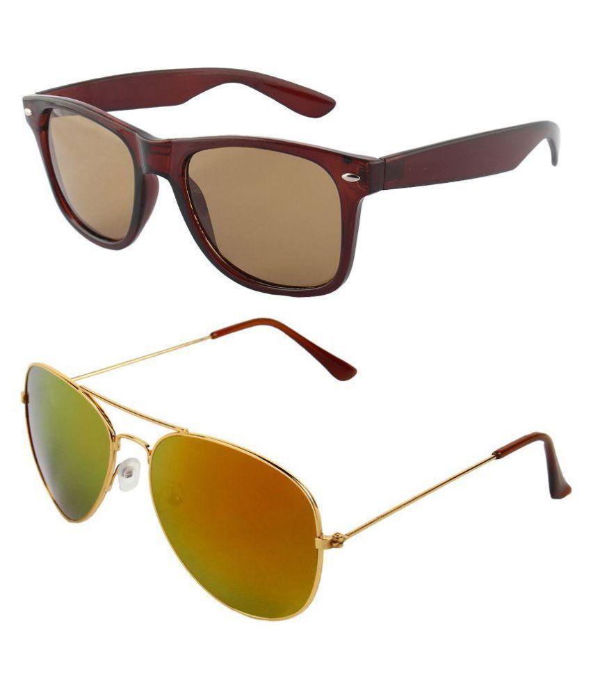 Zyaden - Multicolor Pilot Sunglasses ( )