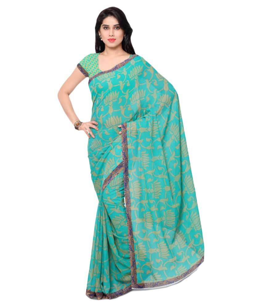 Triveni Green Georgette Saree