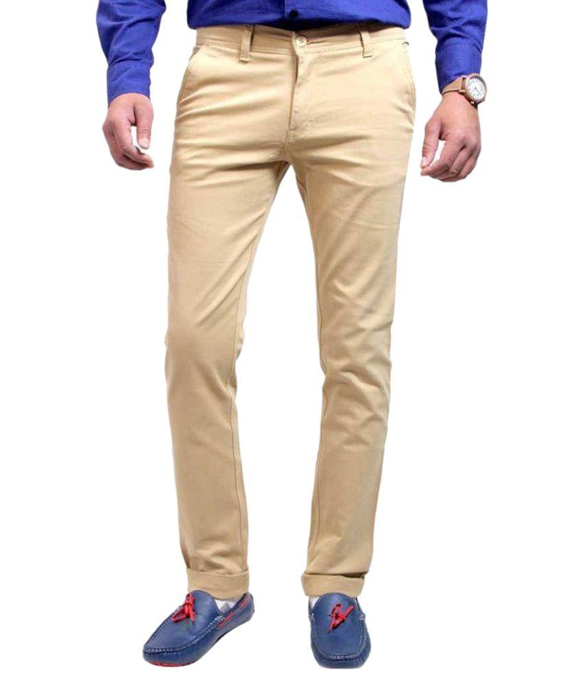 Luv Kush Beige Regular Flat Trouser
