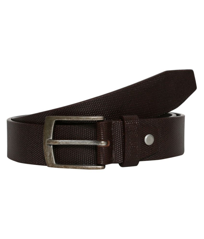 Porus Club Brown Leather Casual Belts
