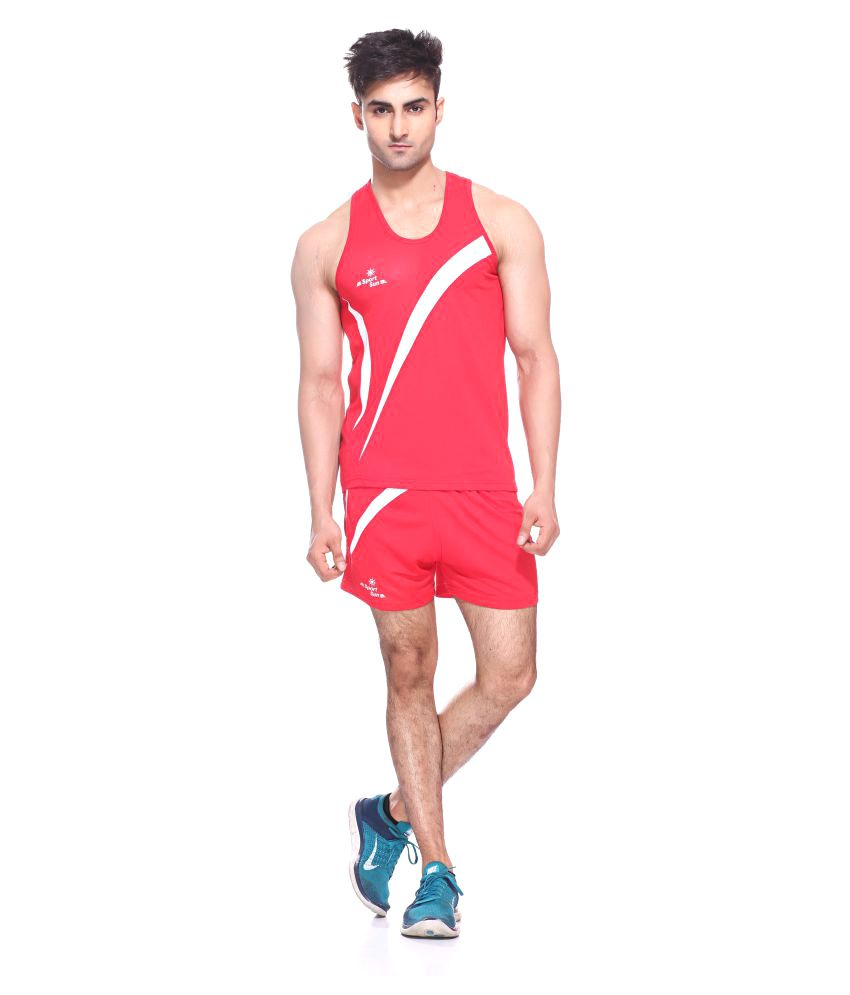 Sport Sun Red Polyester T-Shirt Single Pack