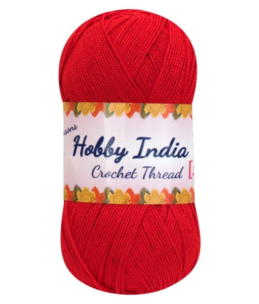 f85da676662a Ganga Acrowools Red Crochet Thread - Set of 3  Buy Online at Best ...