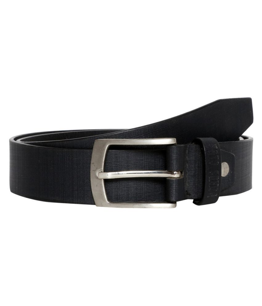 Porus Club Black Leather Casual Belts