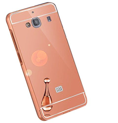 Style Crome Metal Bumper + Acrylic Mirror Back Cover Case For SamsungS6  Gold + Flexible Portable Thumb OK Stand
