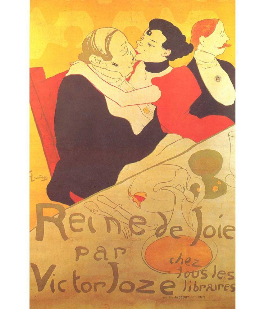 Tallenge Henri de Toulouse-Lautrec - Reine De Joie, Plakat Canvas Art Prints Without Frame Single Piece