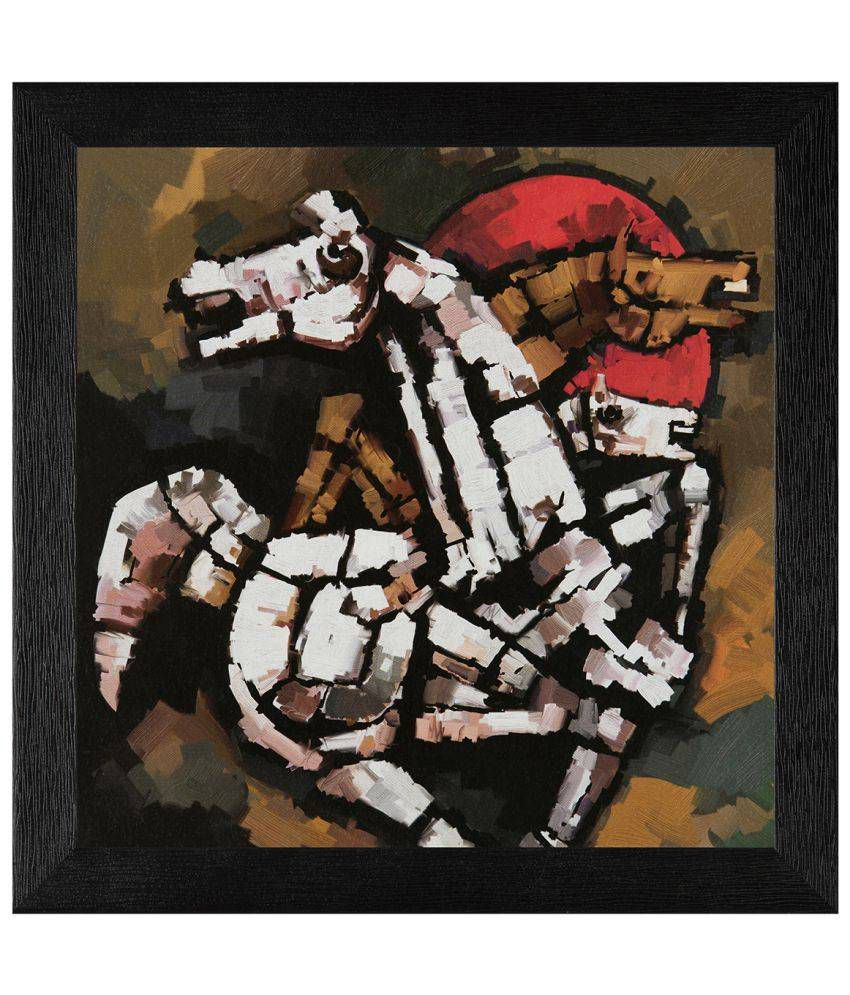 JAF Modern Art Wood Art Prints With Frame Single Piece
