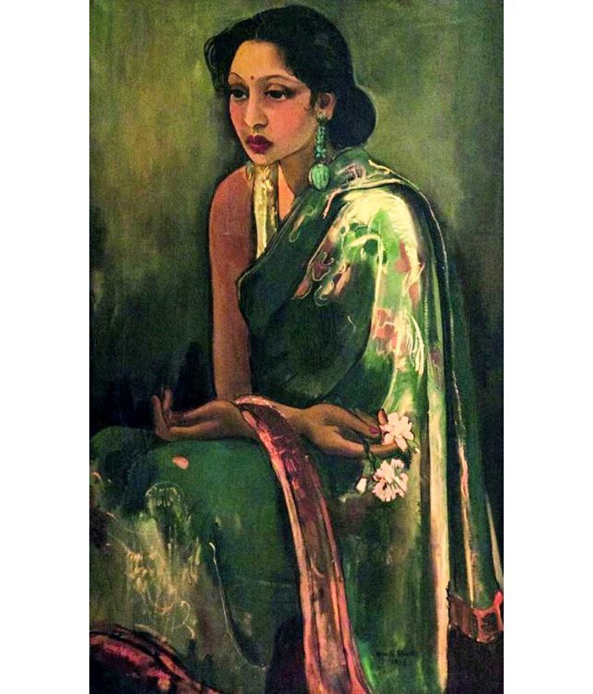 Tallenge Amrita Shergil Canvas Art Prints Without Frame Single Piece
