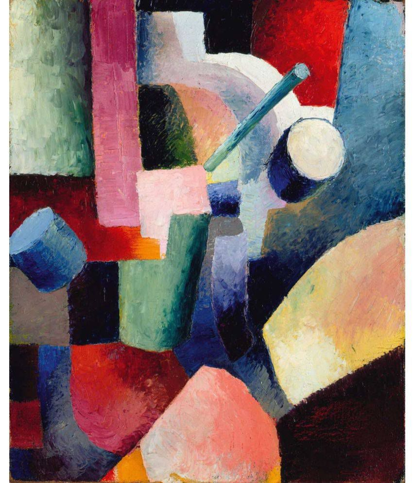 Tallenge Colored Composition Of Forms Canvas Art Prints Without Frame Single Piece