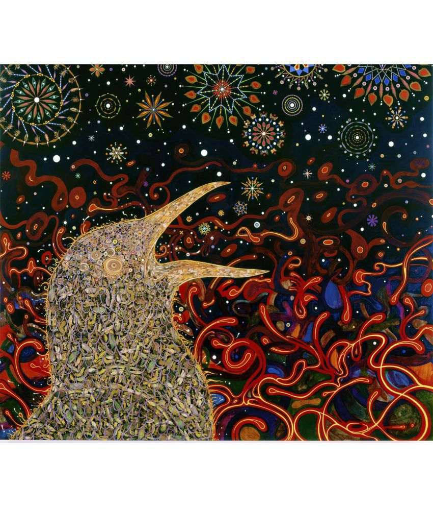 Tallenge Fred Tomaselli - Birds Canvas Art Prints Without Frame Single Piece
