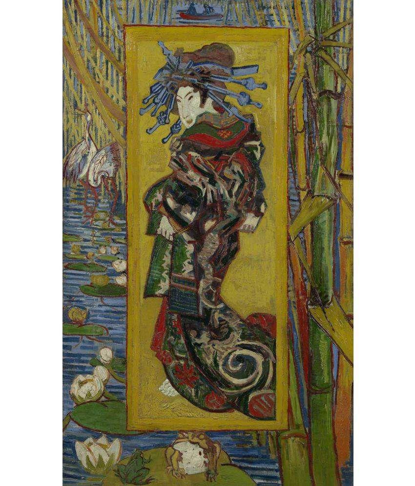 Tallenge Van Gogh - Courtesan (after Eisen) Canvas Art Prints Without Frame Single Piece