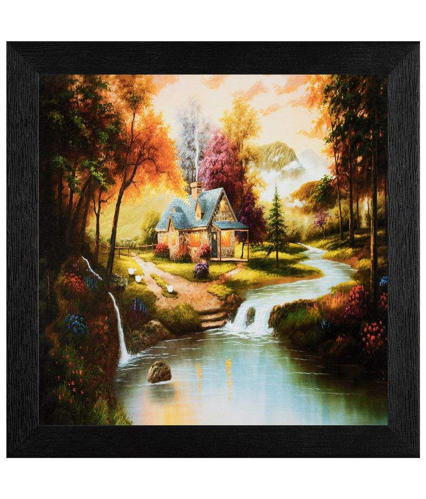 JAF Natural Scene Wood Art Prints With Frame Single Piece