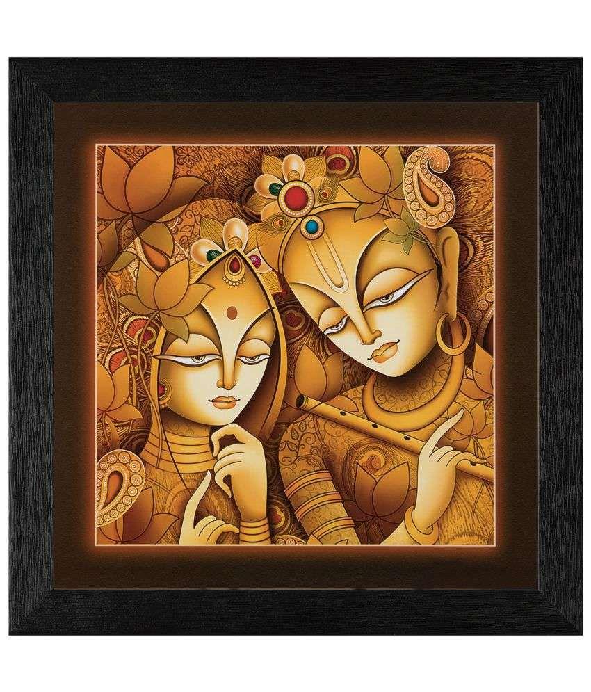 JAF Radhakrishan Wood Art Prints With Frame Single Piece