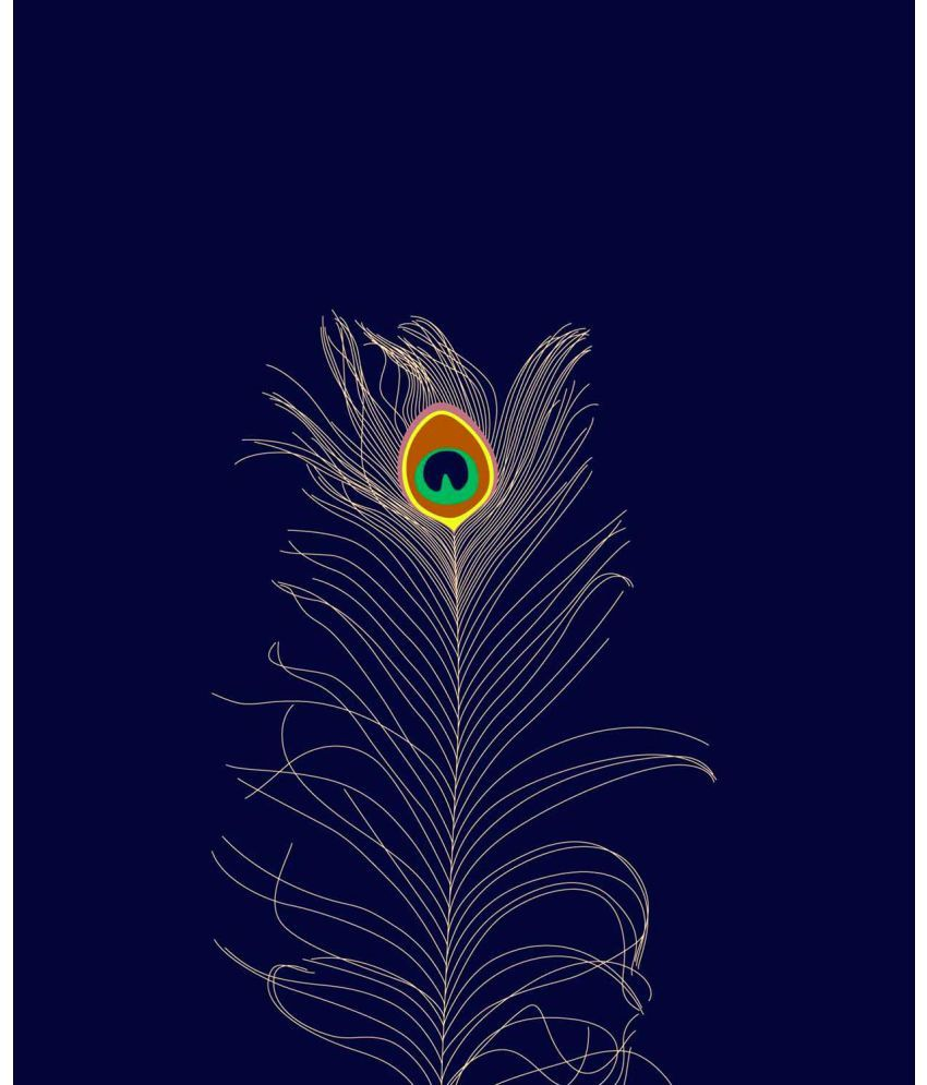 Tallenge Minimalist Art - Peacock Feather Canvas Art Prints Without Frame Single Piece