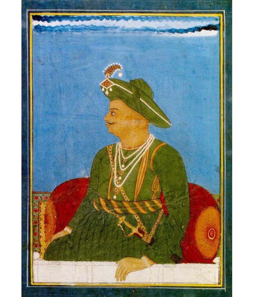 Tallenge Official Portrait Of Tipu Sultan - The Tiger Of Mysore Canvas Art Prints Without Frame Single Piece