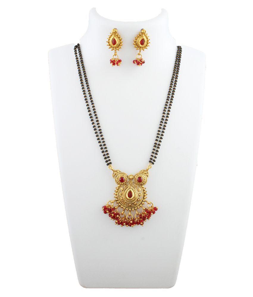 Anuradha Art Golden Mangalsutra Set